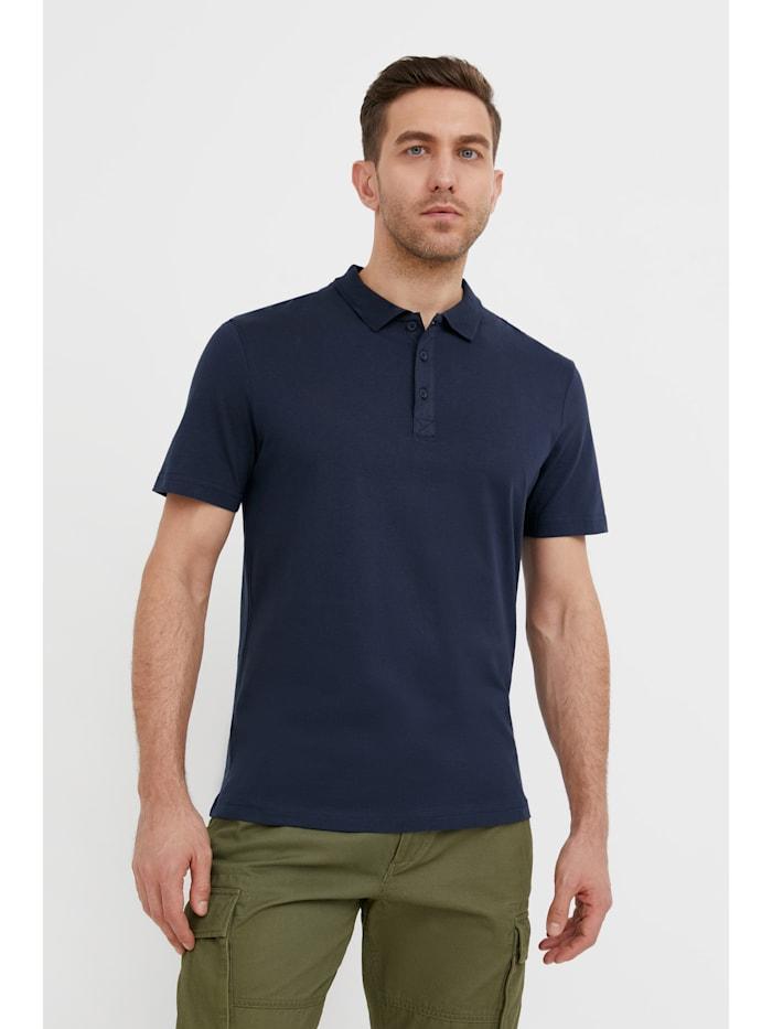 Finn Flare Klassisches Poloshirt - mit klassischem Polokragen, dark blue