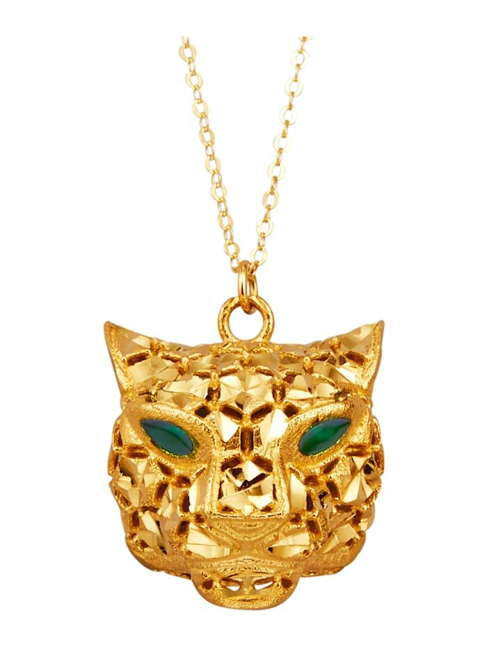 Amara Or Collier avec pendentif Panthère, Coloris or jaune