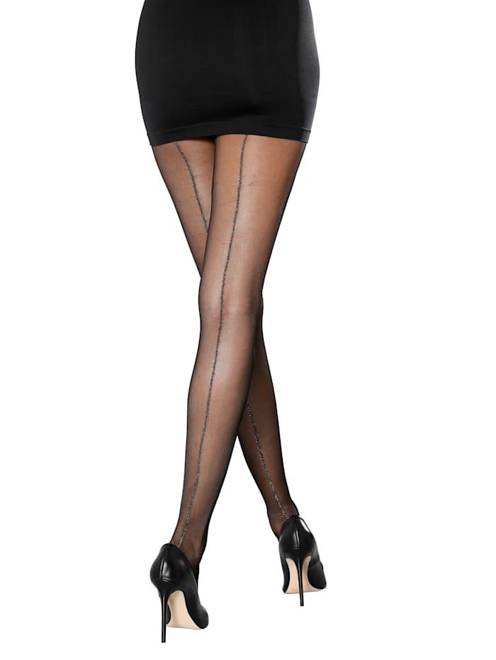 Esda Collant à couture scintillante, 2x noir