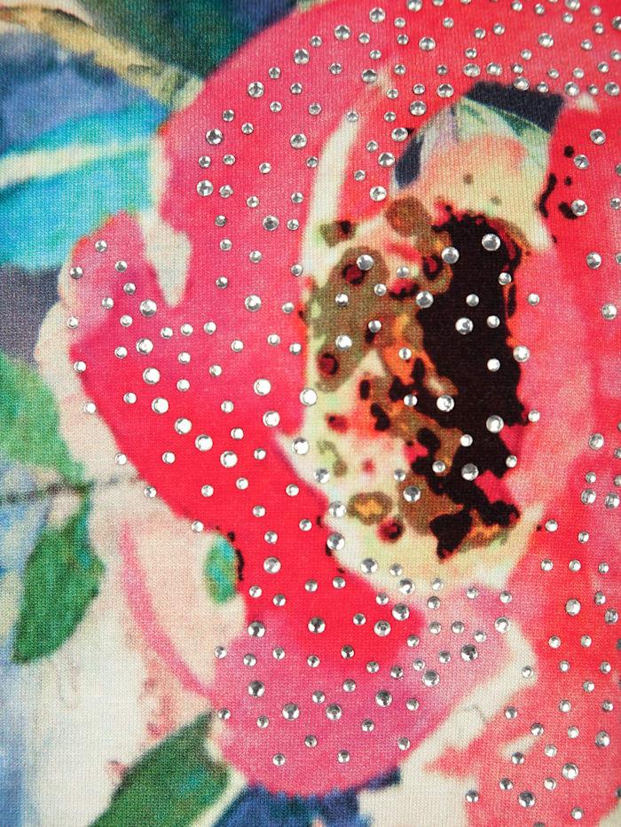 T-shirt à pans à imprimé fleuri