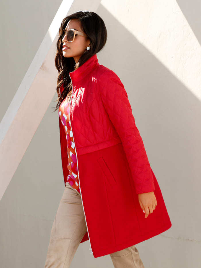 AMY VERMONT Jacke im Material-Mix, Rot