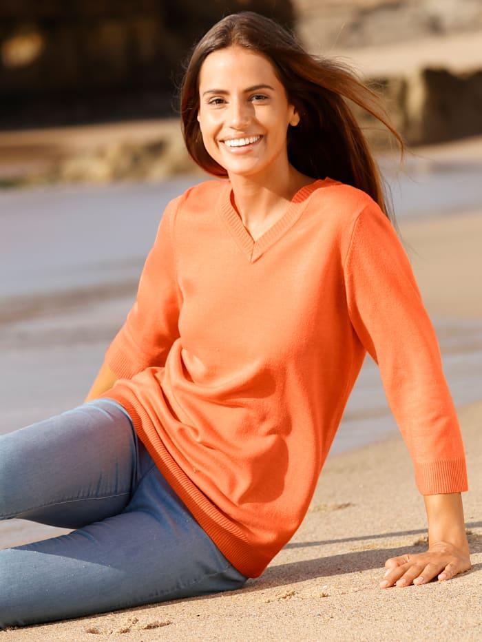 basically you Pullover in schlichter Form, Orange