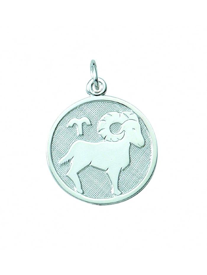 1001 Diamonds Damen & Herren Silberschmuck 925 Silber Sternzeichen Anhänger Widder Ø 15,7 mm, silber