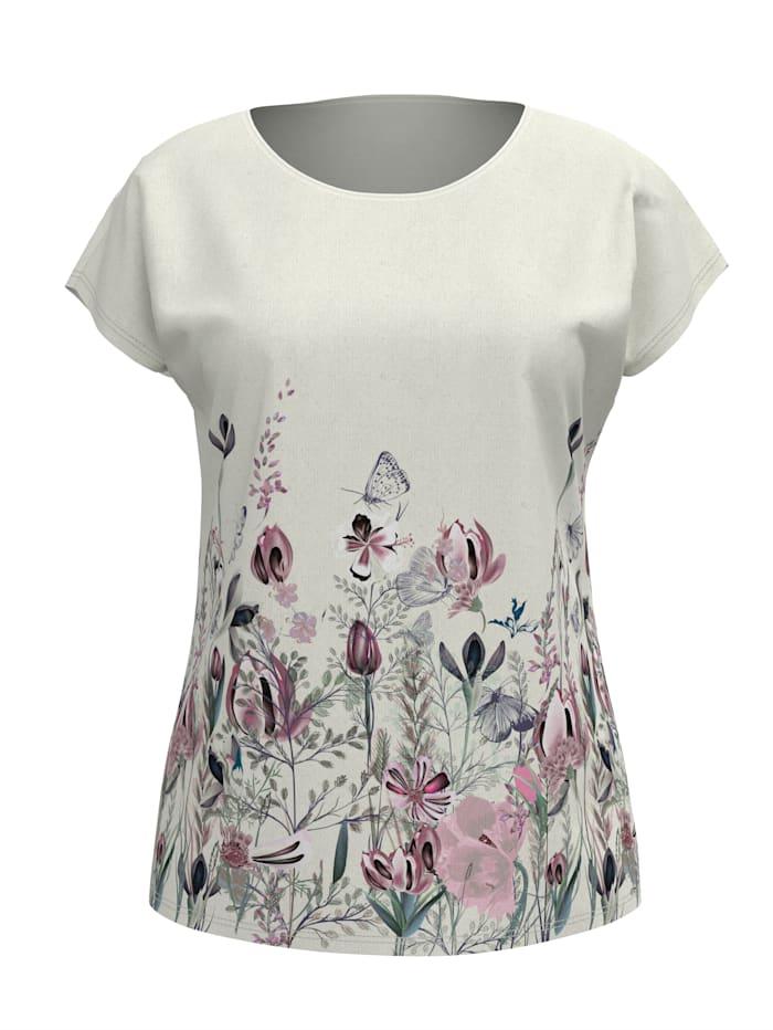Dress In Tričko s kvetinovou potlačou, Biela
