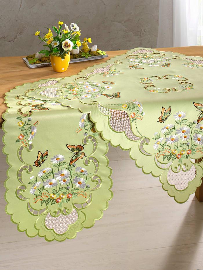 Webschatz Tafellinnen Birgit, Groen/Multicolor