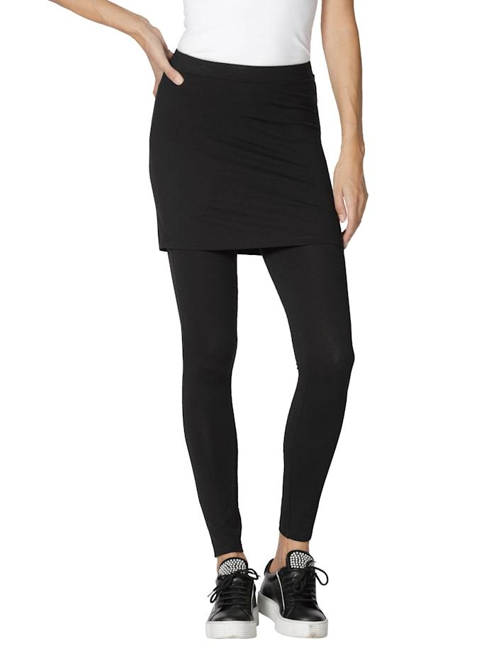 AMY VERMONT Legging met aangestikte rok, Zwart