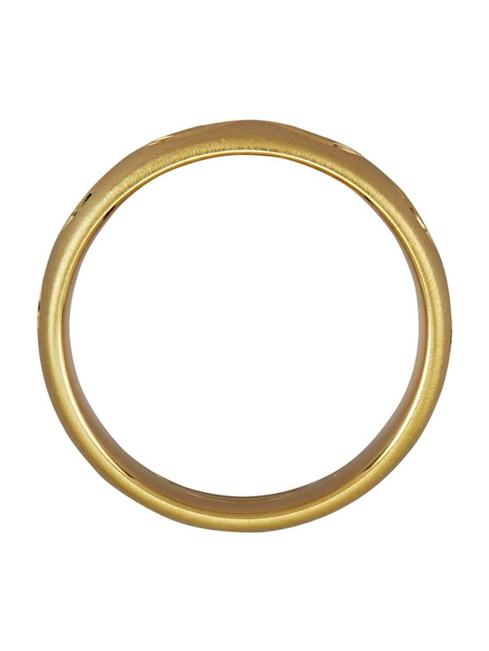 Trauring in Silber 925, vergoldet