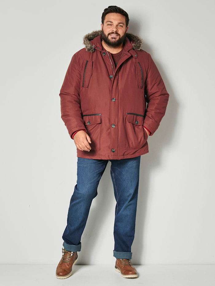 Jacke mit abnehmbarem Kunstfell