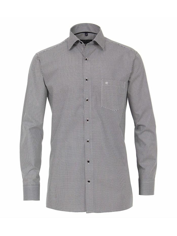 CASAMODA Hemd Print Comfort Fit, Grauschwarz