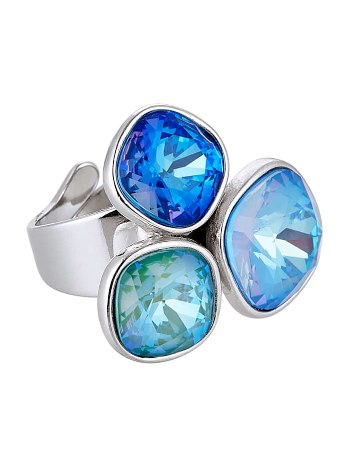 STILOMIO Ring, Silberfarben/Blau