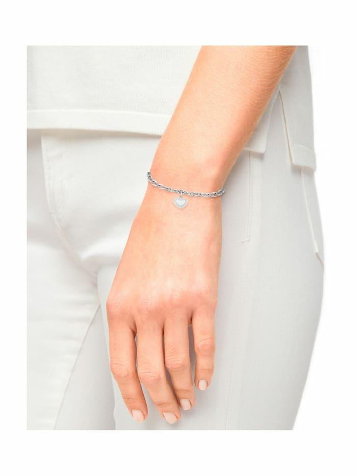 Armband für Damen, Edelstahl mit Zirkonia | Herz