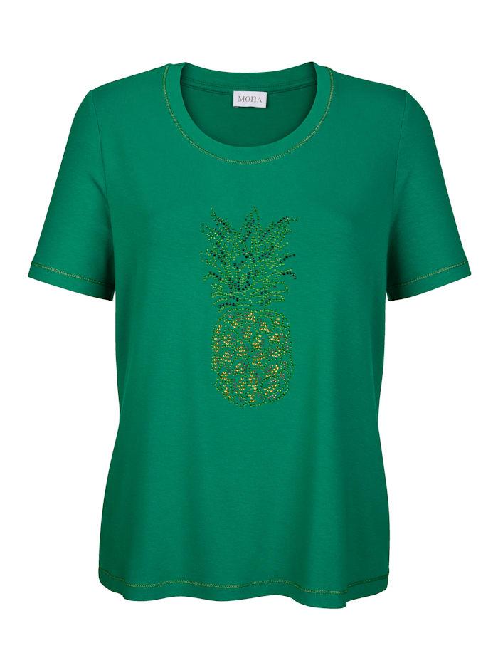 Shirt mit dekorativere Ananas aus Strass
