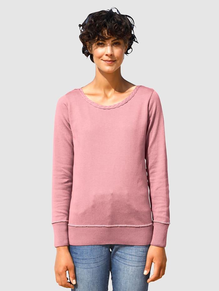 Dress In Pullover mit Zopfmuster, Lavendel