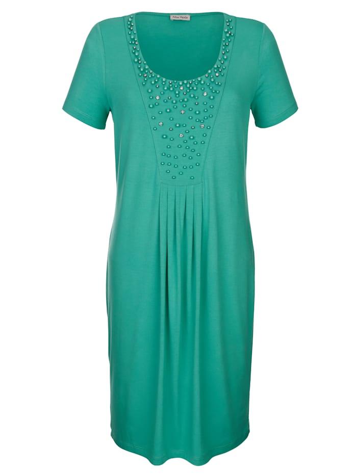 Alba Moda Strandkleid mit verziertem Ausschnitt, Smaragd
