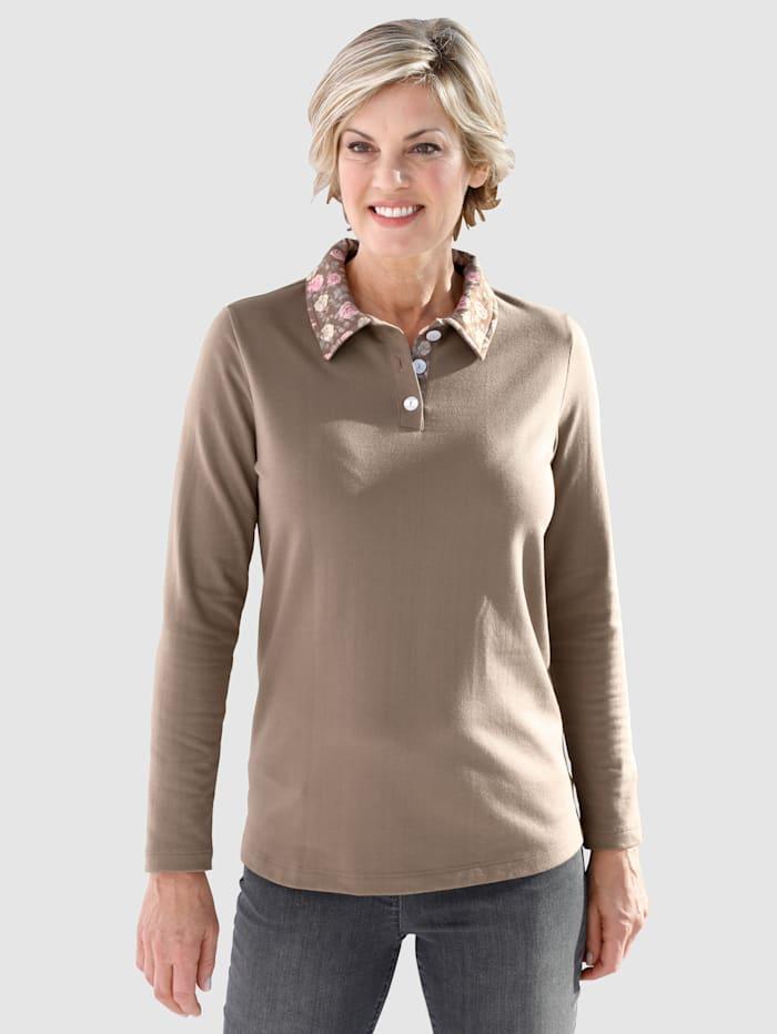 Sweatshirt mit floralen Akzenten
