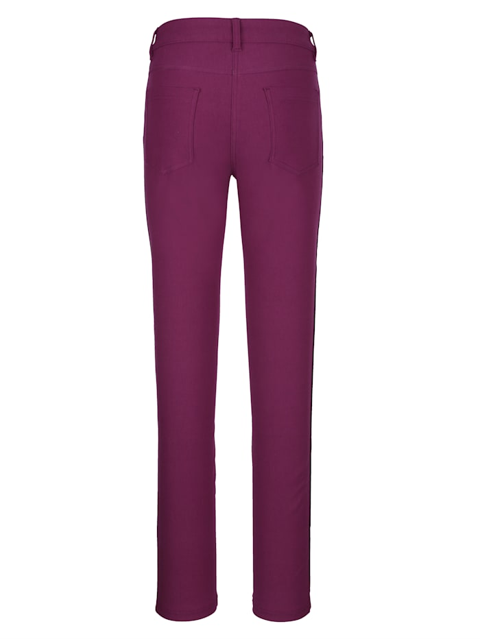 Trousers with fashionable side stripe
