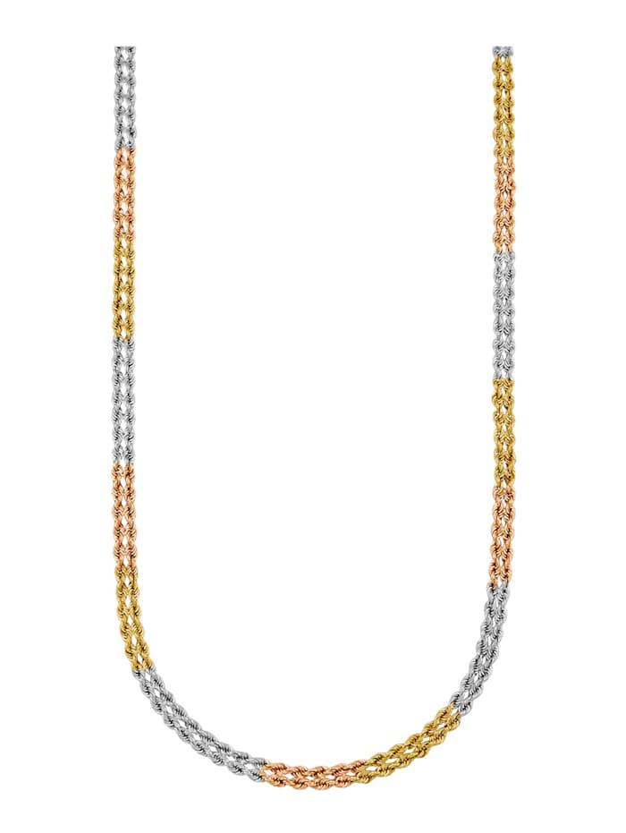 Diemer Gold Chaîne maille cordon en or jaune 585, Multicolore
