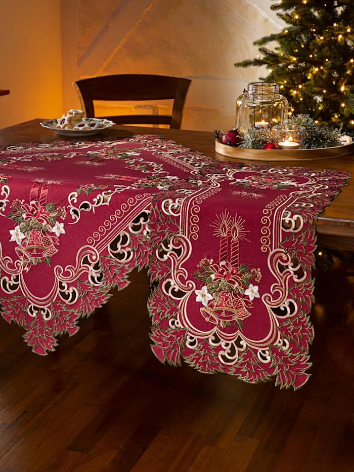 Dukserie med elegante julebroderier
