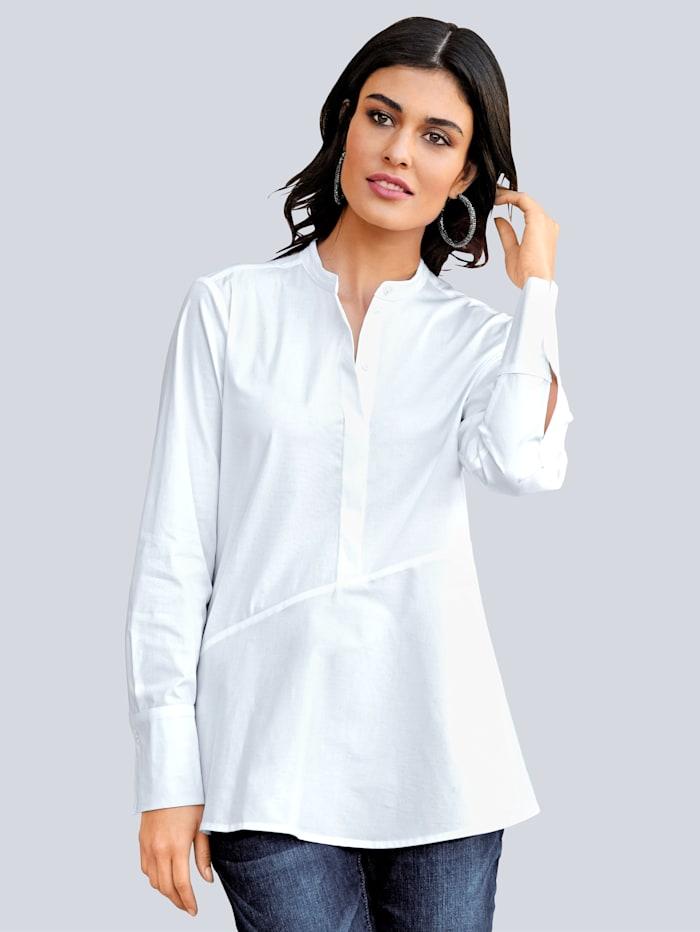 Alba Moda Bluse in klassischer Farbstellung, Weiß