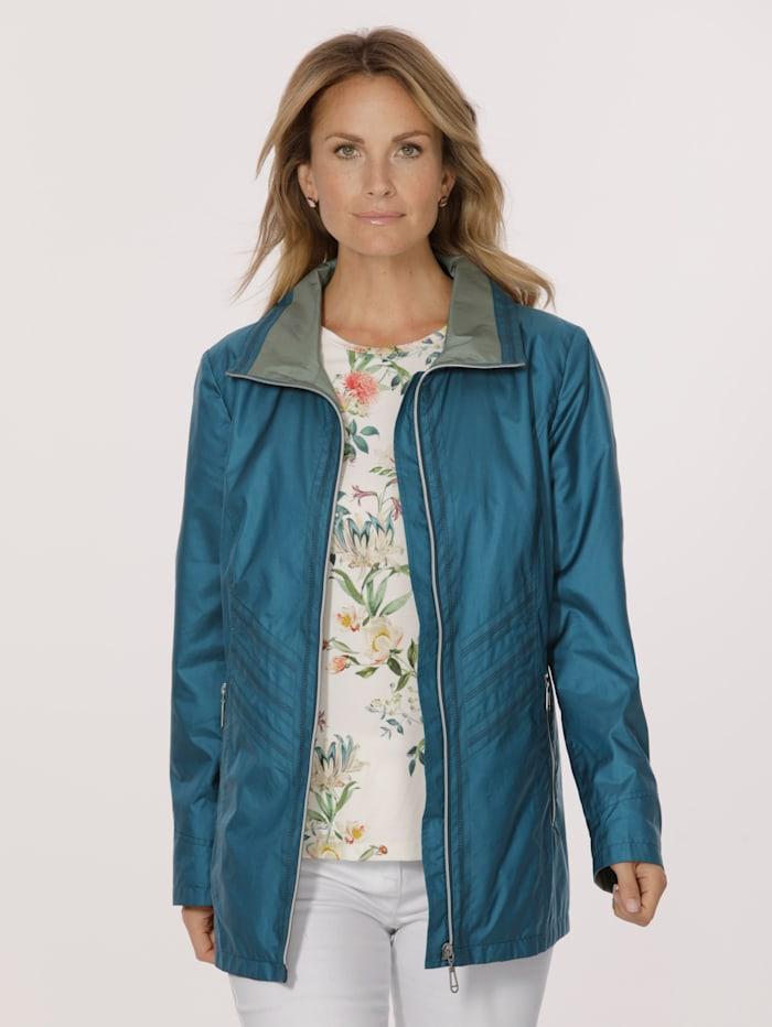 MONA Jacket, Lime Green/Turquoise