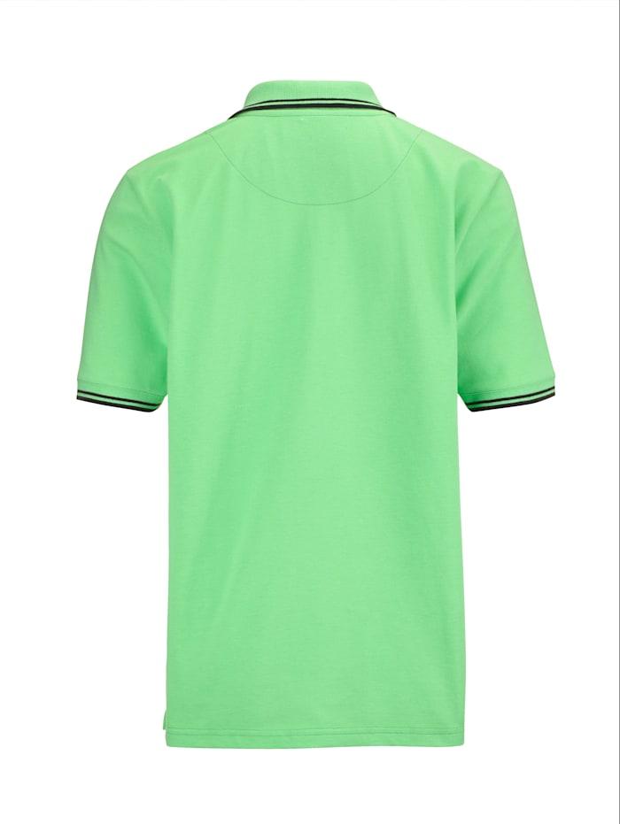 Poloshirt met contraststrepen