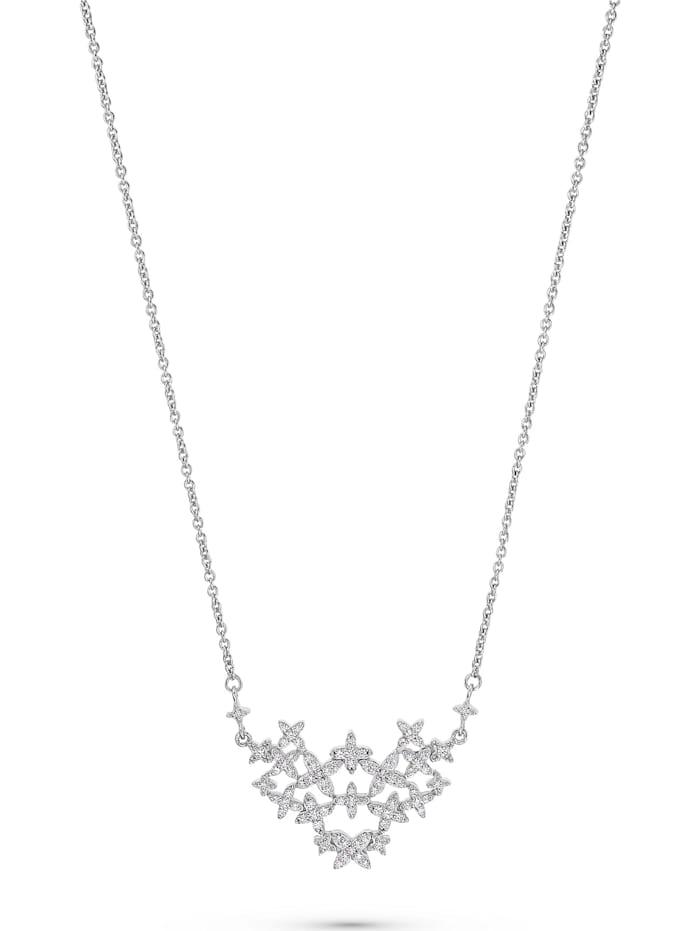 Jette JETTE Damen-Kette 925er Silber 85 Zirkonia, silber