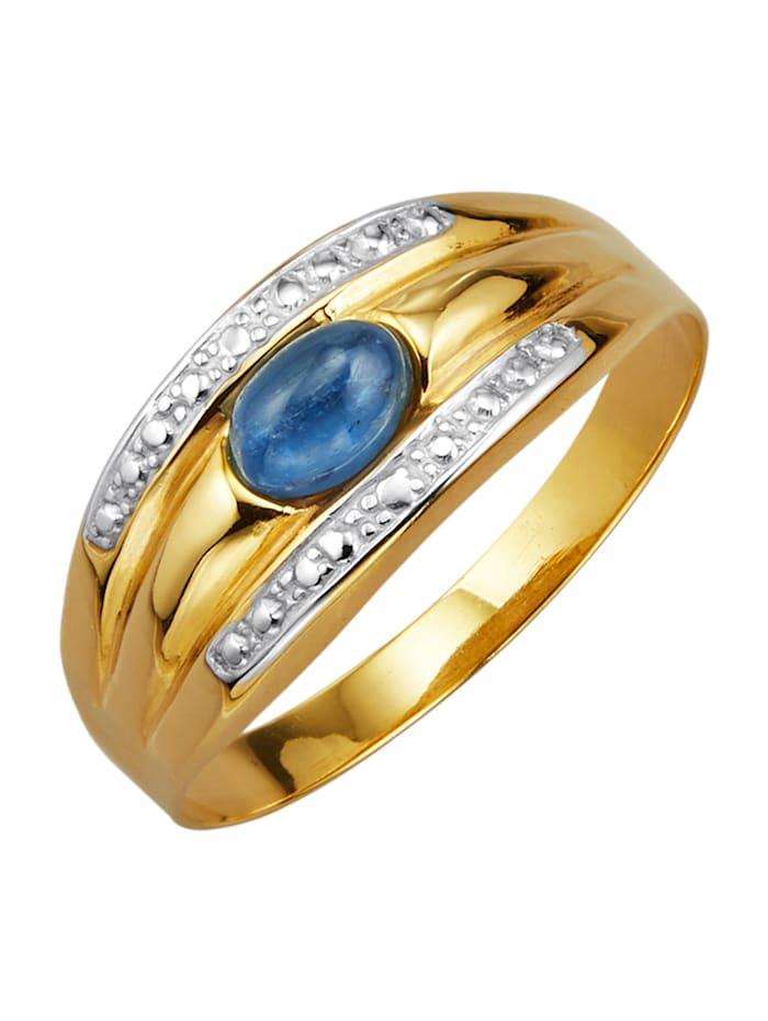 Bague à kyanite, Bleu