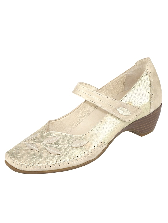 Naturläufer Court shoes with great decorative stichings, Beige