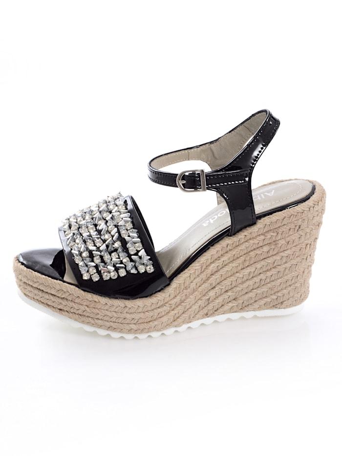 Sandaaltje met siersteentjes