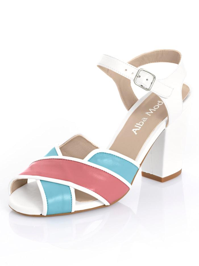 Sandalette in 3-Farbigkeit