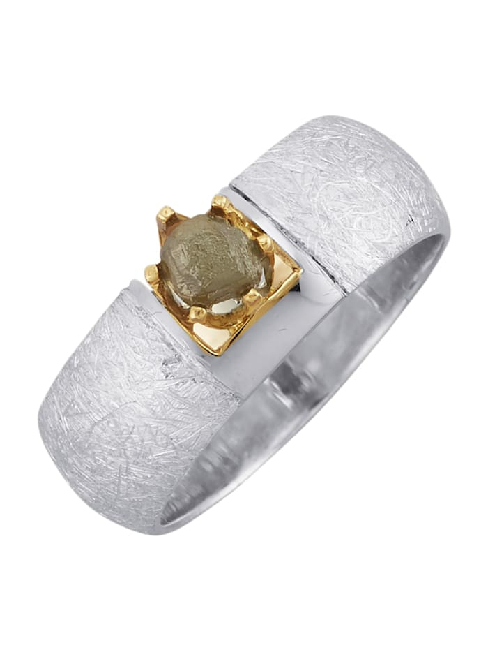 Diemer Atelier Damesring met ruwe diamant, Bruin