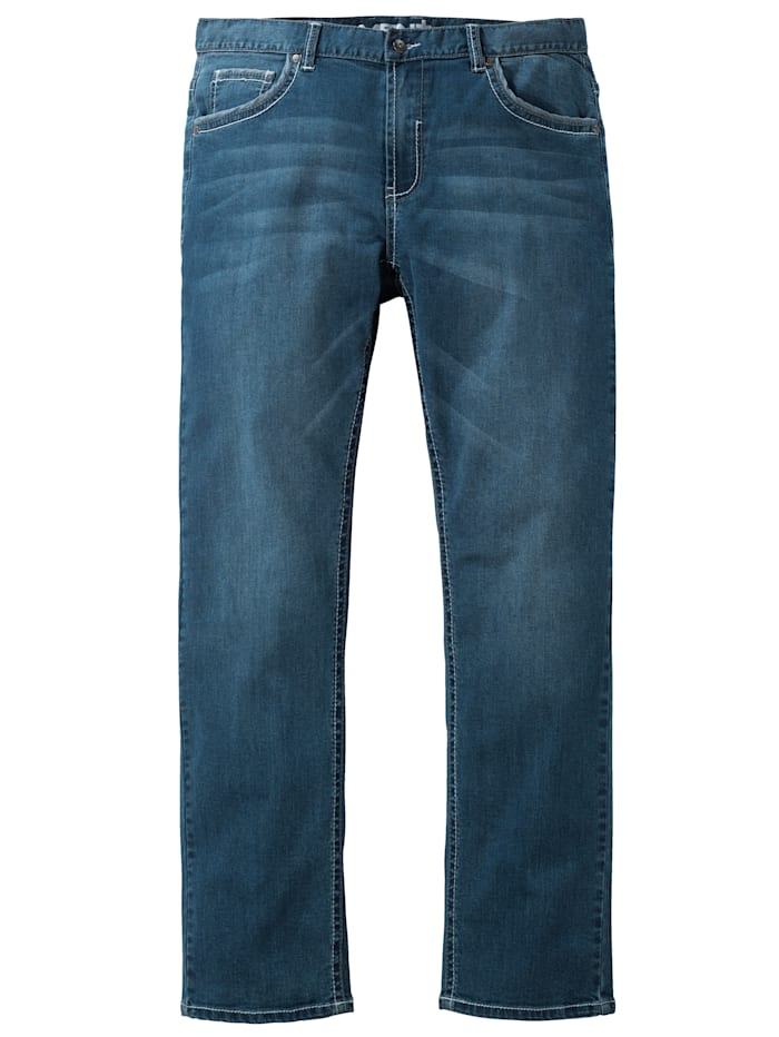 Men Plus Jeans in 5- Pocket- Form, Blue stone