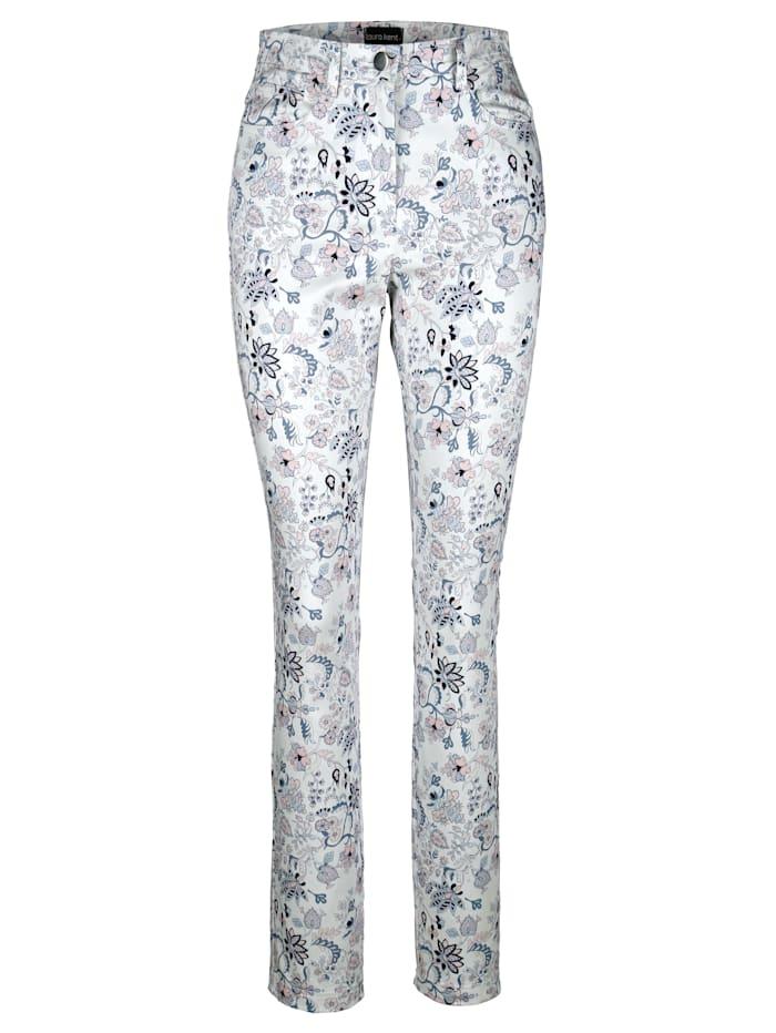 Kukkakuosiset housut