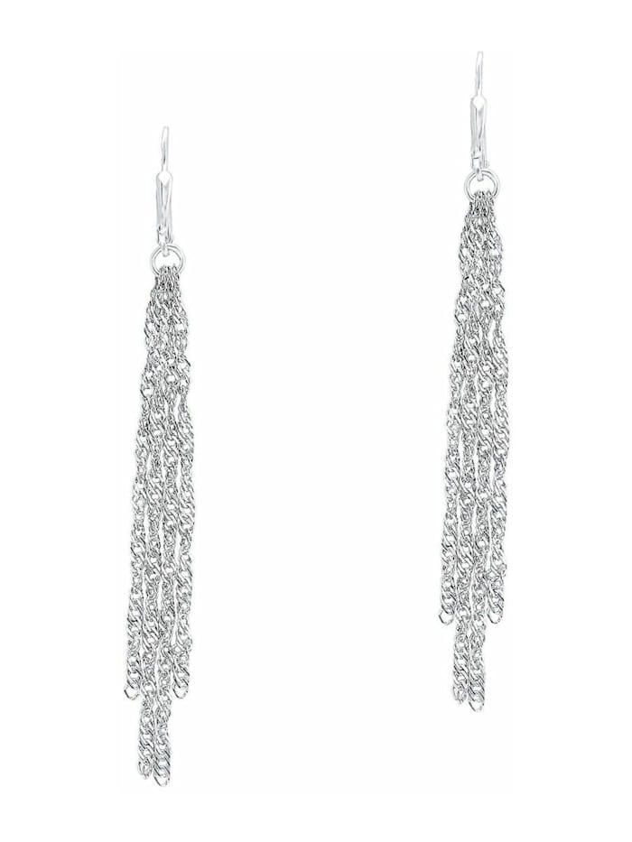 amor Ohrhänger amor Damen-Ohrhänger 8 cm 925 Sterling Silber rhodiniert Brisurverschluss, Silber