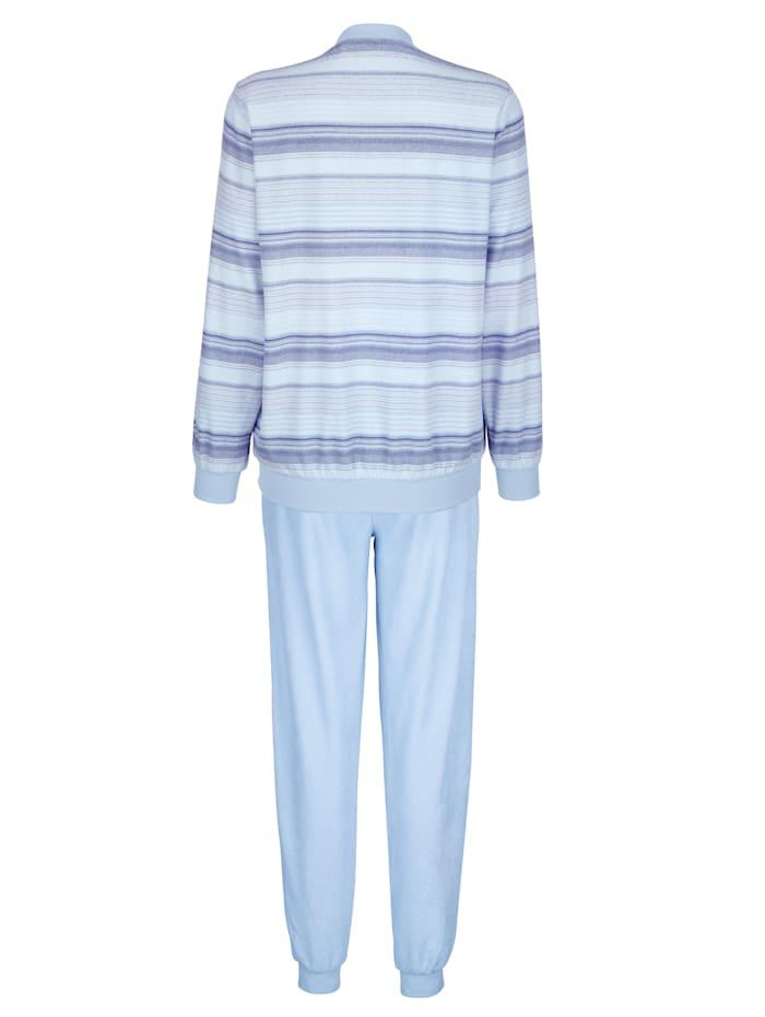 Schlafanzug aus trageangenehmem Frottee-Stretch