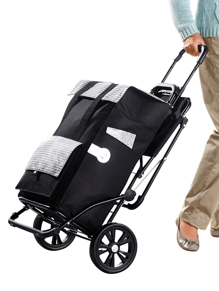 Andersen Shoppingvagn med väska och sits, svart