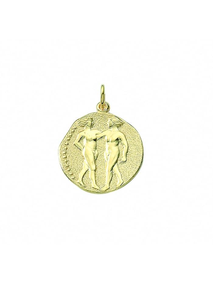 1001 Diamonds Damen & Herren Goldschmuck 333 Gold Sternzeichen Anhänger Zwilling Ø 18,2 mm, gold