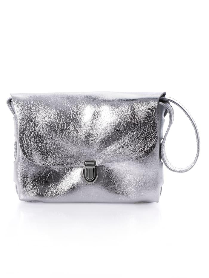 Alba Moda Umhängetasche in Crossover-Form, Silber