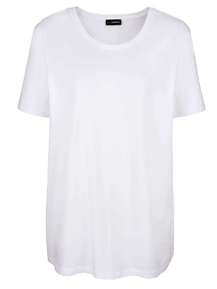 MIAMODA Shirt mit Rundhalsausschnitt, Weiß