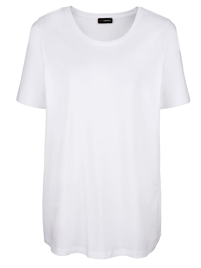 MIAMODA Tričko s kulatým výstřihem, Bílá