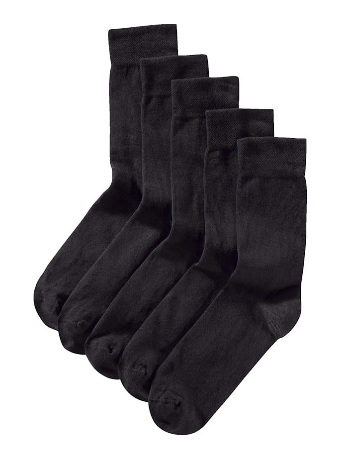 BABISTA Chaussettes, 5 paires en coton biologique, Noir