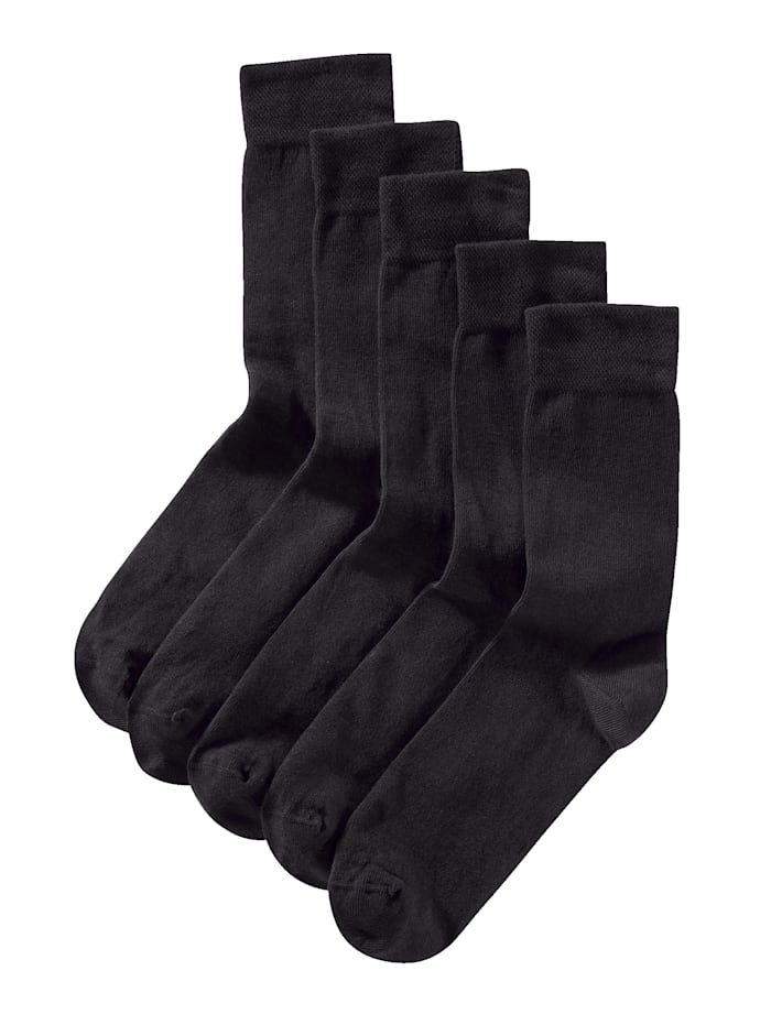 BABISTA Ponožky, 5 párov z bio bavlny, Čierna