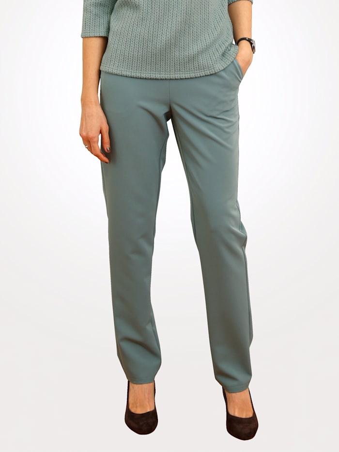 MONA Pantalon en matière tissée extensible, Sauge