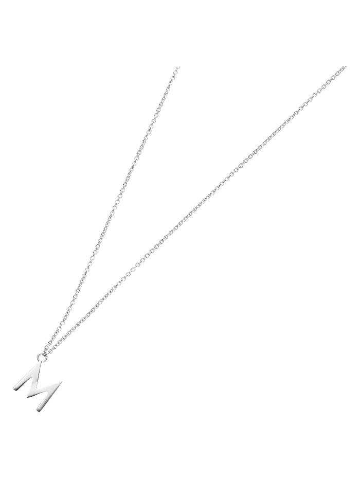 Smart Jewel Collier Buchstabe M, Silber 925, Silber