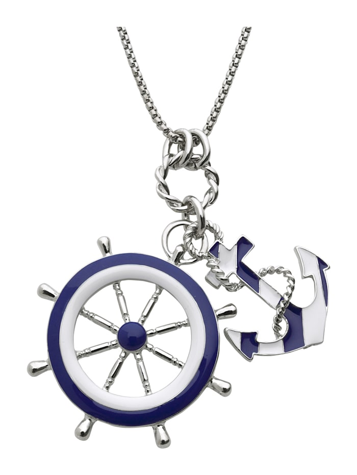 Pendant and chain with nautical-inspired design