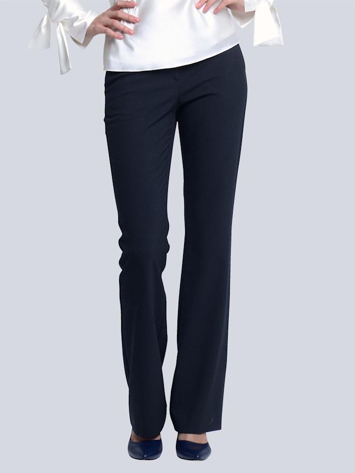Alba Moda Hose aus figurformendem Stretch-Material, Marineblau
