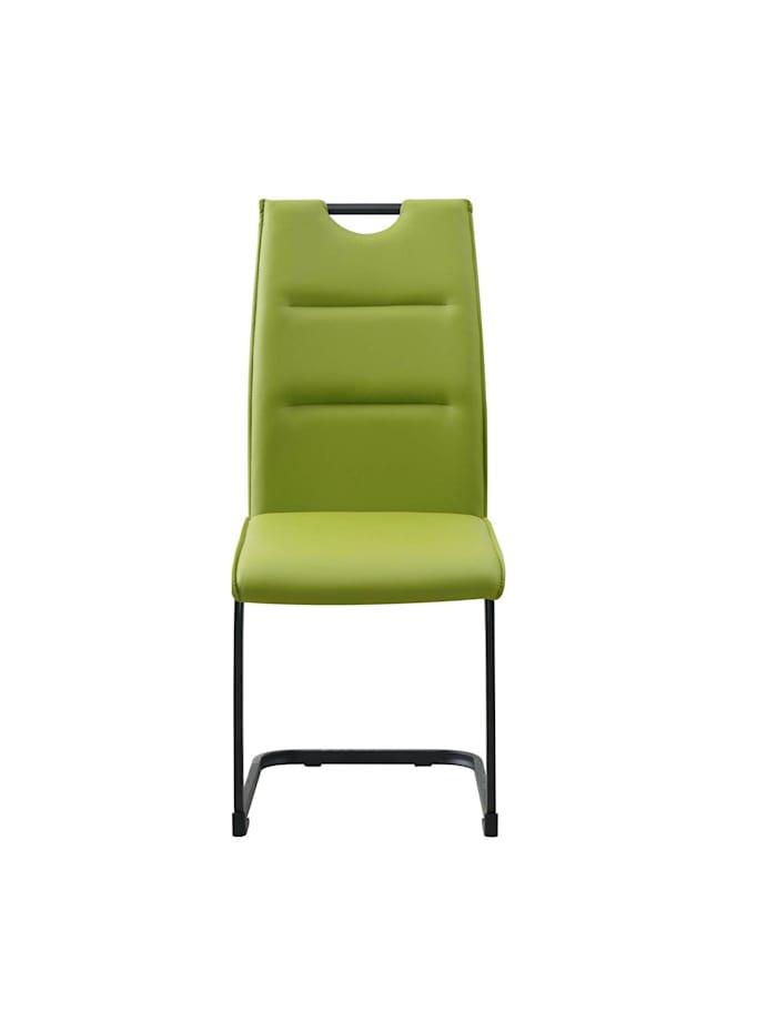 HTI-Line Schwingstuhl 4er Set PU grün DannyP, Grün