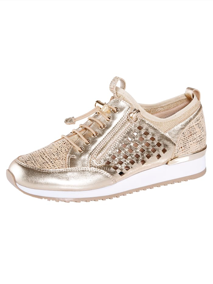 Caprice Trainers with adjustable zip closure, Gold-Coloured