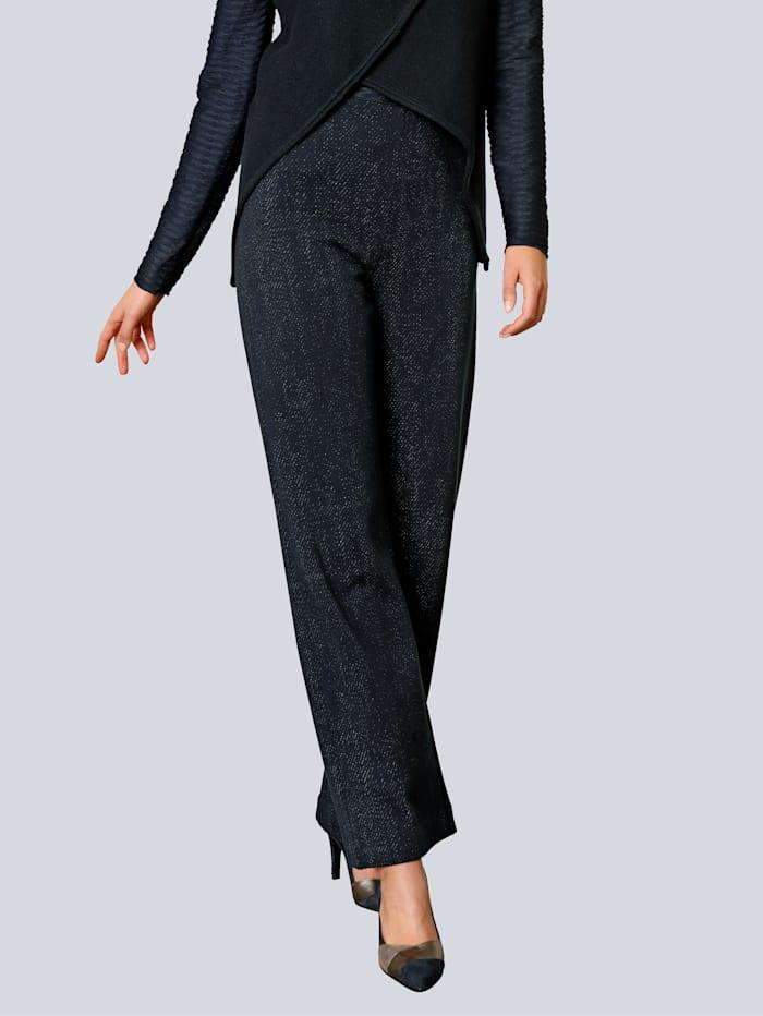 Alba Moda Hose in modischer Silhouette, Marineblau/Grau