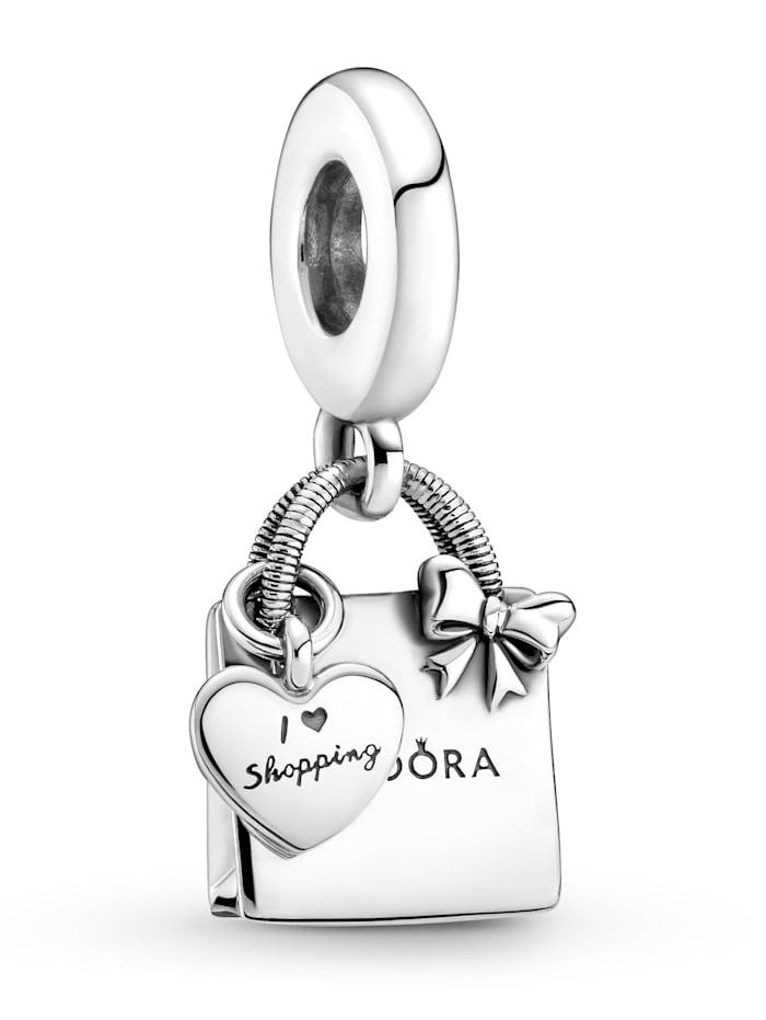 Pandora Charm-Anhänger -Pandora Einkaufstasche- 799536C00, Silberfarben